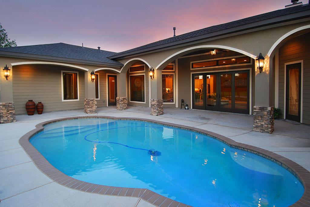 Power washing is ideal method for pool deck cleaning for Pressure clean pools