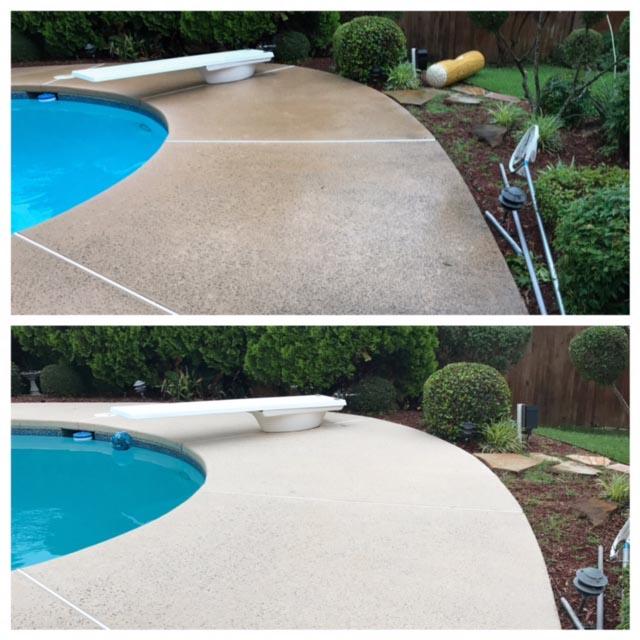 Professional pool deck pressure washing dfw pressure works for Pressure clean pools